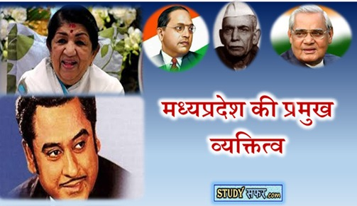 Famous Personalities of mp in Hindi