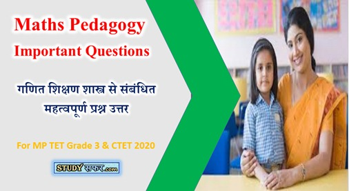Ganit Pedagogy Important Questions for MP TET 2020