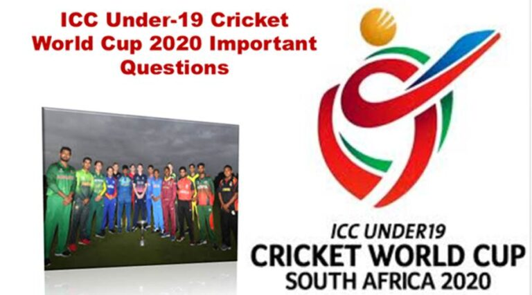 ICC Under 19 Cricket World Cup 2020 Important Questions
