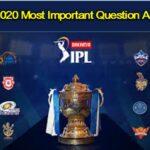 IPL 2020 Important Questions