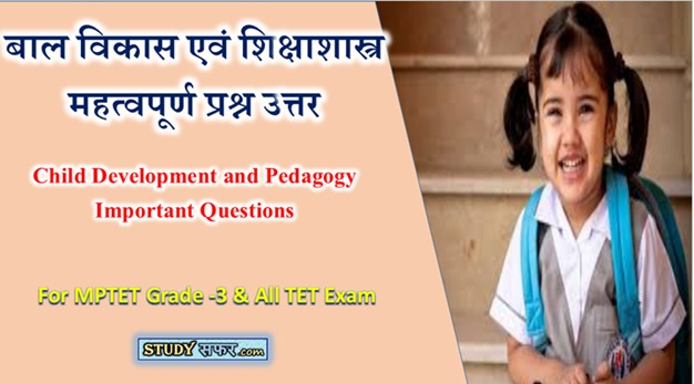 Child Development and Pedagogy Important Questions in Hindi