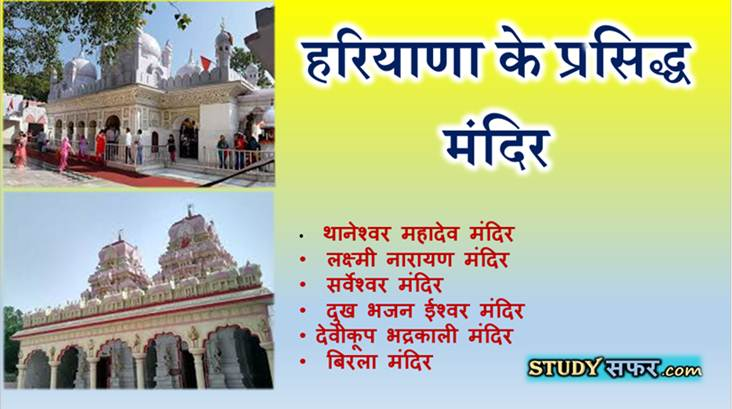 List of Famous Temple of Haryana in Hindi