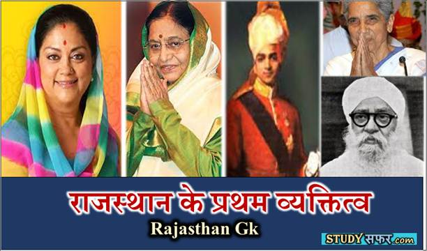 List of First people in Rajasthan