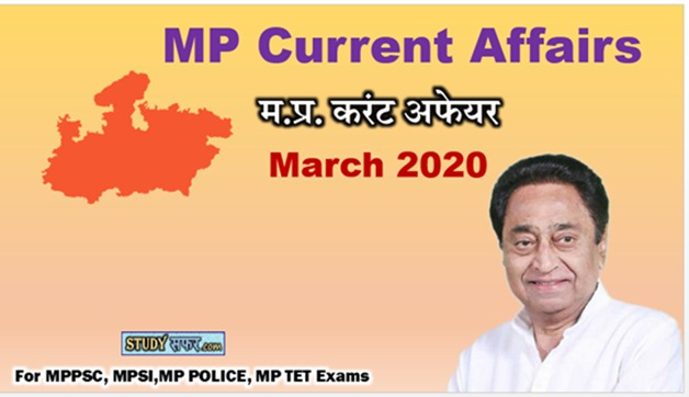 MP Current Affair Important Question for March 2020