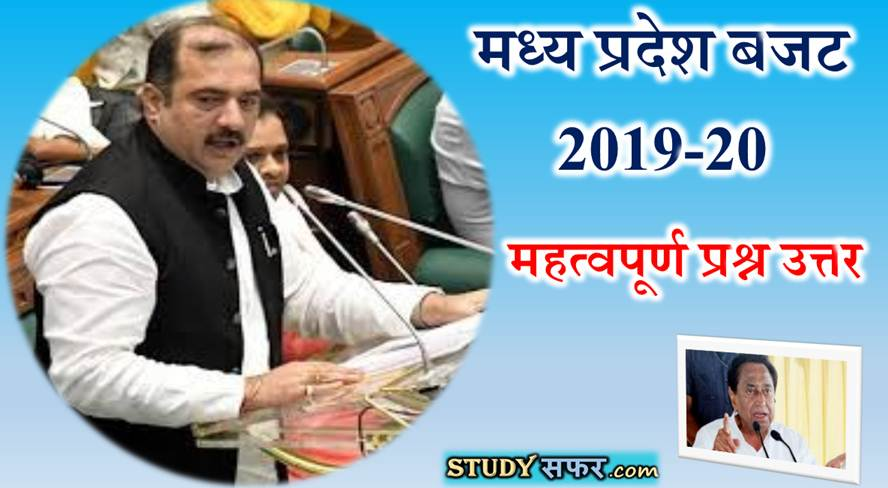 Madhya Pradesh Budget Top 20 Important Questions in Hindi