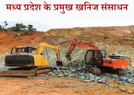 Madhya Pradesh ke Khanij Sansadhan List in Hindi