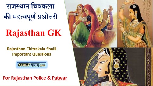 Rajasthan Chitrakala Shaili Important Questions