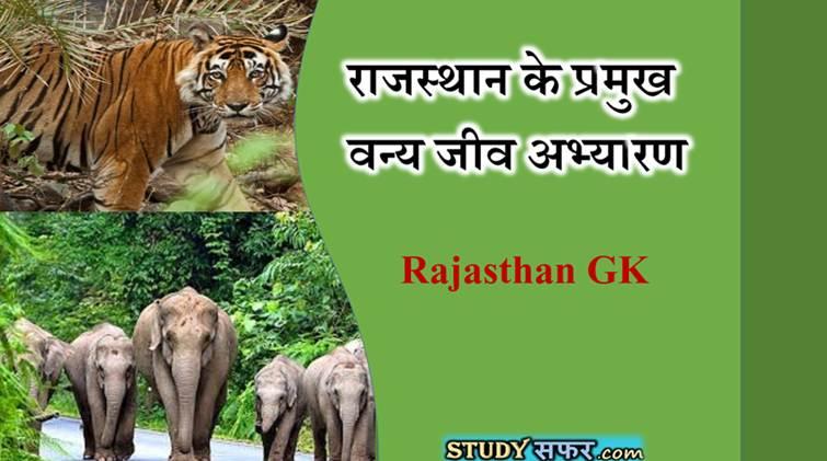 Rajasthan Ke Pramukh Abhyaran in Hindi