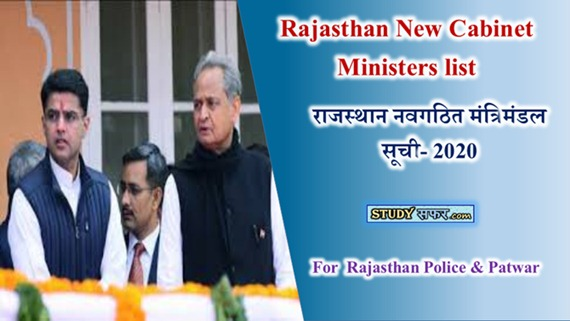 Rajasthan Mantrimandal List 2020 in Hindi