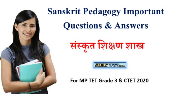 Sanskrit Pedagogy Important Question for CTET 2020
