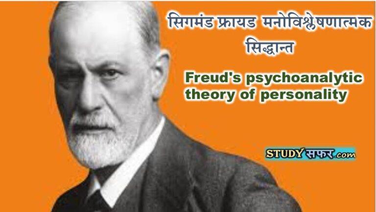 Sigmund Freud ka Siddhant