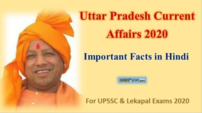 Uttar Pradesh Latest Current Affairs 2020 in Hindi