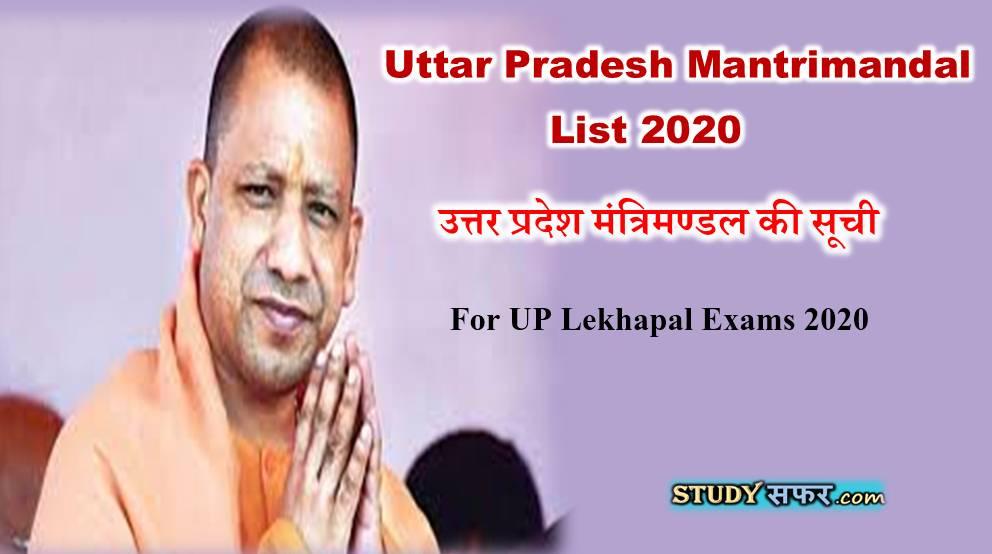 Uttar Pradesh Mantrimandal List