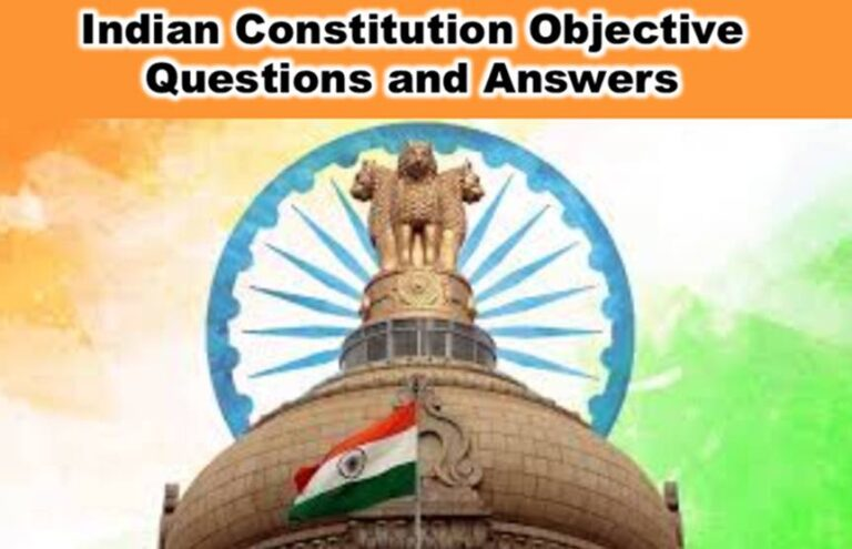 Indian Constitution Objective Questions