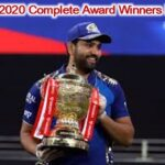 IPL 2020 Awards List