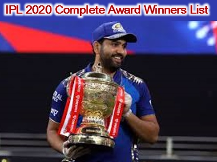 IPL 2020 Awards List