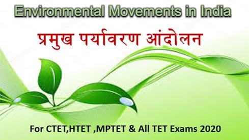 Environmental Movements in Hindi
