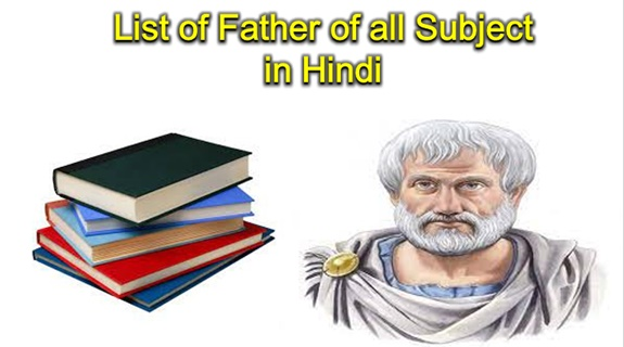 Father of All Subjects List in Hindi For RRB NTPC 2020