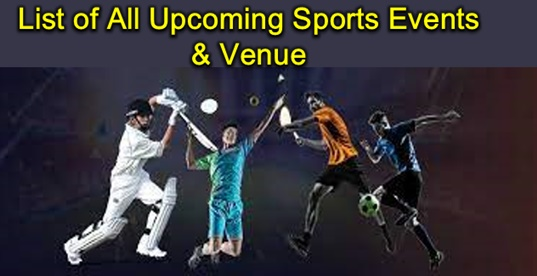 Sports Events List 2021