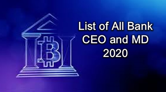 All Banks CEO List