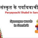 Paryayvachi Shabd
