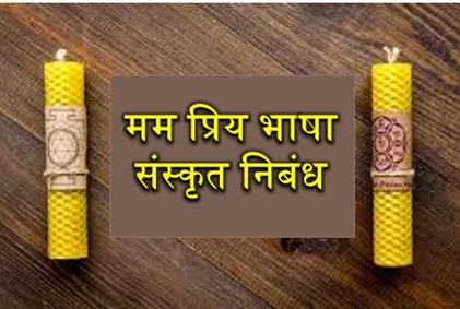 Essay on Sanskrit Language in Sanskrit || For Class 10th