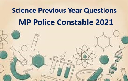 MP Police Constable Previous year Question Paper pdf
